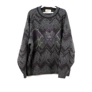 Vintage 90s Streetwear Winged Heart Knit Sweater